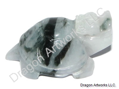 Jade Dragon Turtle Pendant of Abundance