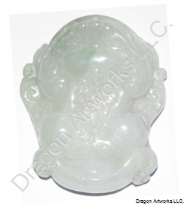 Money toad of wealth carved jade pendant aloadofball Images