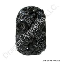 Attractive Black Jade Dragon Pendant