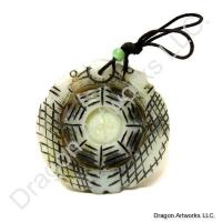Bagua Double Dragon Jade Pendant