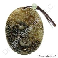 Carved Jade Dragon Pendant of High Quality