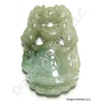 Ancient Green Jade Pendant of Bell