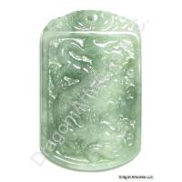 Auspicious Green Jade Pendant of Flying Dragon