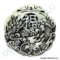 Energetic Chinese Jade Dragon Pendant